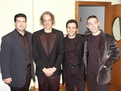 Il M° Giuseppe Latrofa, il M° Marcos Vinicius, il M° Vincenzo Silvestris ed il M° Lello Patruno.